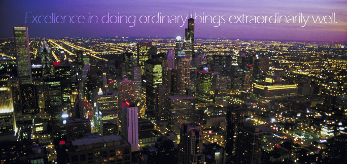 Excellence in doing ordinary things extraordinarily well.